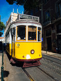 Vintage tram in the city center of Lisbon  Lisbon, Portugal in a Stock Photography