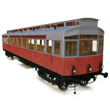 Vintage tram isolated over white 3D Illustration Stock Photos