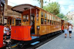 Vintage Soller trams, Majorca Stock Photography