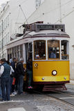 Vintage tram in Lisbon, Portugal Royalty Free Stock Photo