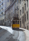 Vintage Tram in Lisbon Portugal Royalty Free Stock Photos