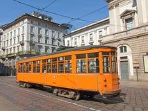 Vintage tram, Milan Royalty Free Stock Image