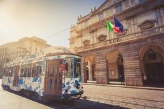Free Vintage Tram Near La Scala In Milano Stock Photos - 108434293