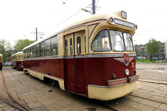 Vintage tram Royalty Free Stock Images