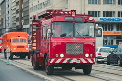 Old fire truck, Prague, Czech Republic Royalty Free Stock Photography