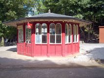 Vintage Tram Refreshment Kiosk Stock Photography