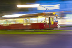 Vintage tram in vienna Stock Photos