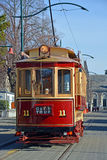 Vintage Tram on Worcester Boulevard Christchurch stock photo