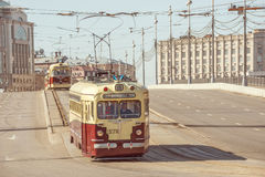 Vintage trams. Stock Photography