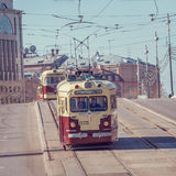 Vintage trams. Royalty Free Stock Photo