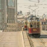 Vintage trams. Royalty Free Stock Photos