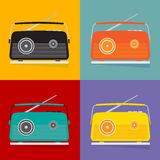 The vintage transistor radio. Royalty Free Stock Photography