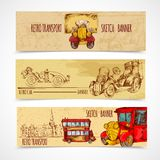 Vintage Transport Banners Stock Photography