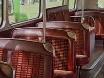 Vintage Transport Bus Seats Stock Image