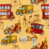 Vintage Transport Seamless Stock Image