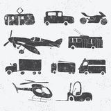 Vintage transport set Stock Photo
