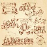 Vintage Transport Sketch Stock Image