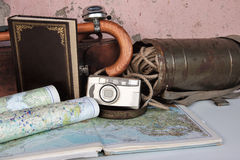 Vintage Travel Background Stock Photography