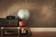 Vintage travel bags stock photos