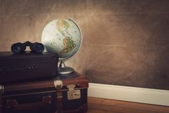 Vintage travel bags royalty free stock photo