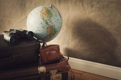 Vintage travel bags stock photography