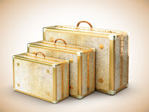 Vintage travel bags Royalty Free Stock Photography