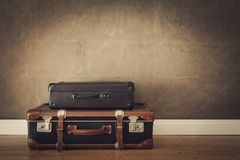 Vintage travel bags royalty free stock images