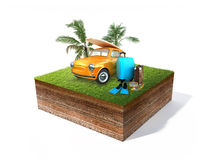 Vintage travel car Royalty Free Stock Image
