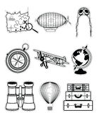 Vintage travel components in stickers style Stock Image