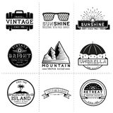 Vintage Travel Labels Royalty Free Stock Images
