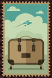 Vintage Travel Luggage poster Royalty Free Stock Photo