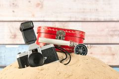 Vintage travel objects Royalty Free Stock Images