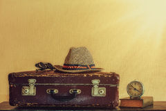 Vintage travel set Royalty Free Stock Photography
