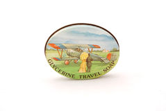 Vintage travel soap Stock Photo