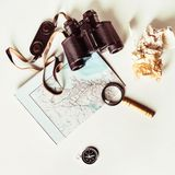 Vintage travel still life Royalty Free Stock Images