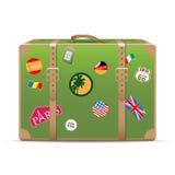Vintage travel suitcase Stock Photos