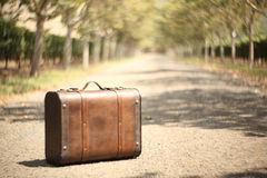 Vintage travel suitcase. Travel concept Royalty Free Stock Images