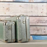 Vintage travel suitcases. Vintage travel with old suitcases Royalty Free Stock Image