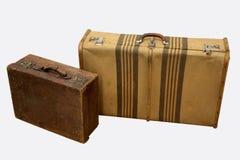 Vintage travel suitcases Stock Photos