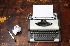 Vintage Travel Typewriter Stock Image