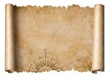 Vintage treasure map scroll isolated royalty free illustration
