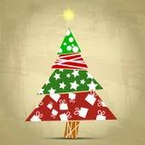 Vintage tree christmas Stock Photo