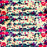 Vintage triangle seamless pattern Stock Photography