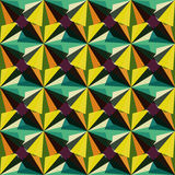Vintage tribal geometric seamless color pattern. Vector eps 10 Stock Images