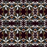 Vintage tribal seamless pattern. Vector eps 10 Stock Photo