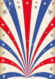 Vintage tricolor poster Royalty Free Stock Image
