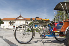 Vintage tricycle bicycle in Chiang mai Stock Photo