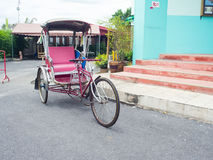 Vintage tricycle of Thai style, Thai transport Royalty Free Stock Photo