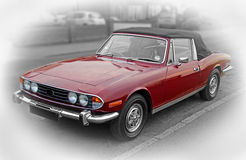 Vintage triumph stag car Stock Images