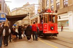 Vintage trolley in Istanbul, Turkey Stock Image